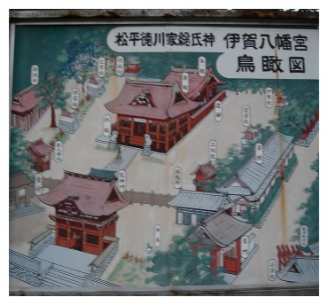 伊賀八幡宮 俯瞰図