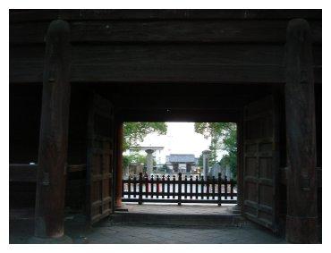 大樹寺 門から岡崎城